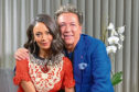 Ross King with wind-up master Thandie Newton