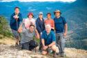 Dom Joly, Edwina Currie, Mim Shaikh, Pauline McLynn, Adrian Chiles, Fatima Whitbread, Amar Latif in BBC Two's Pilgrimage