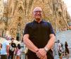 Gregg visits the Sagrada Familia in Barcelona