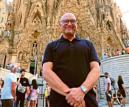 Gregg visits the Sagrada Familia in Barcelona