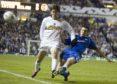 Ian Murray tackles Santiago Solari of Inter Milan back in September 2005