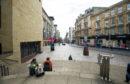 A quiet Buchanan Street in Glasgow during lockdown