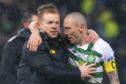 Celtic boss Neil Lennon with his skipper Scott Brown