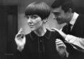 Mary Quant has a cut by hairdresser Vidal Sassoon in 1964