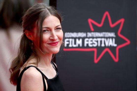 Actress Kelly Macdonald  on the red carpet at the Edinburgh International Film Festival