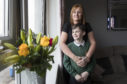 Sharon Muirhead with son Spencer, now aged 10, at home in Saltcoats, Ayrshire last week