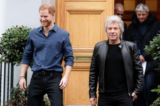 Duke of Sussex and Jon Bon Jovi