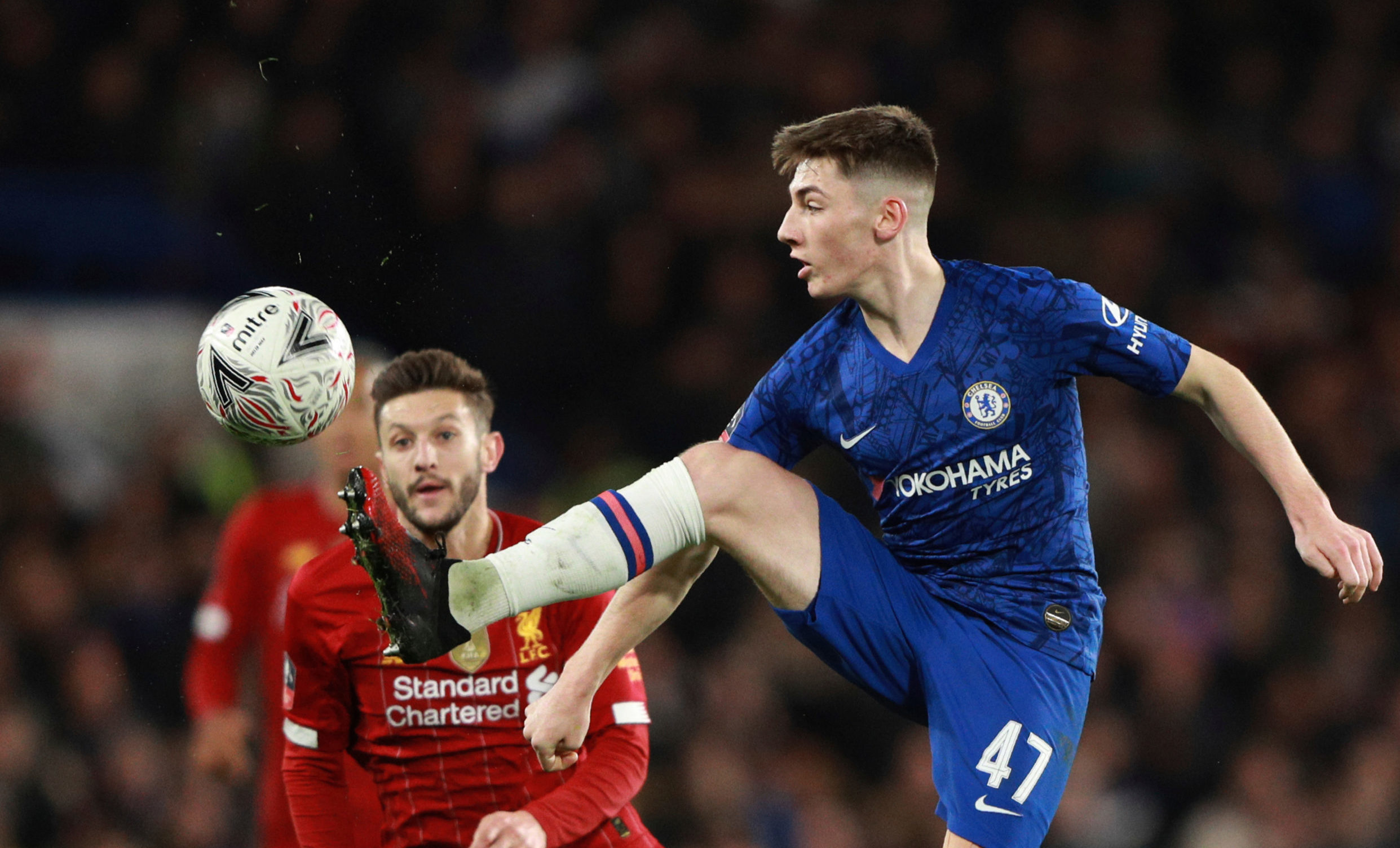 Billy Gilmour in action against Liverpool's Adam Lallana in midweek