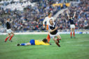 Archie Gemmill celebrates his famous solo goal