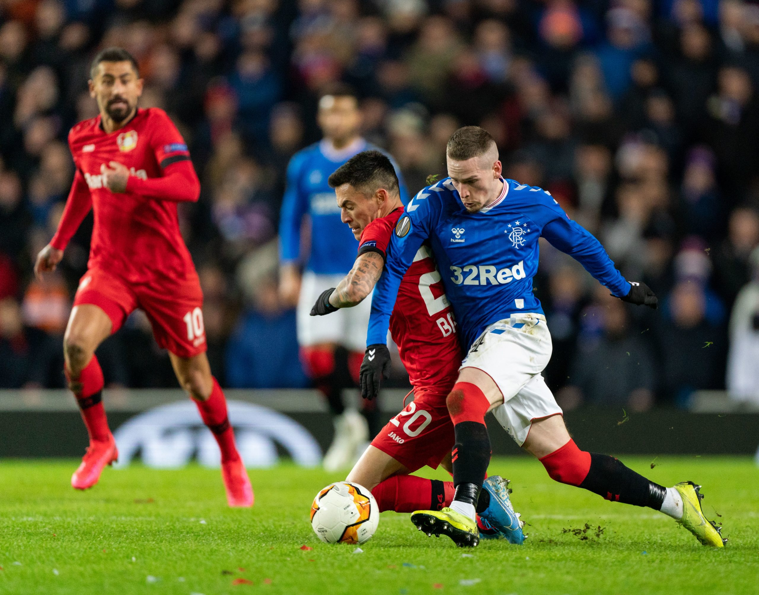 Rangers were beaten by Bayer Leverkusen at Ibrox last night