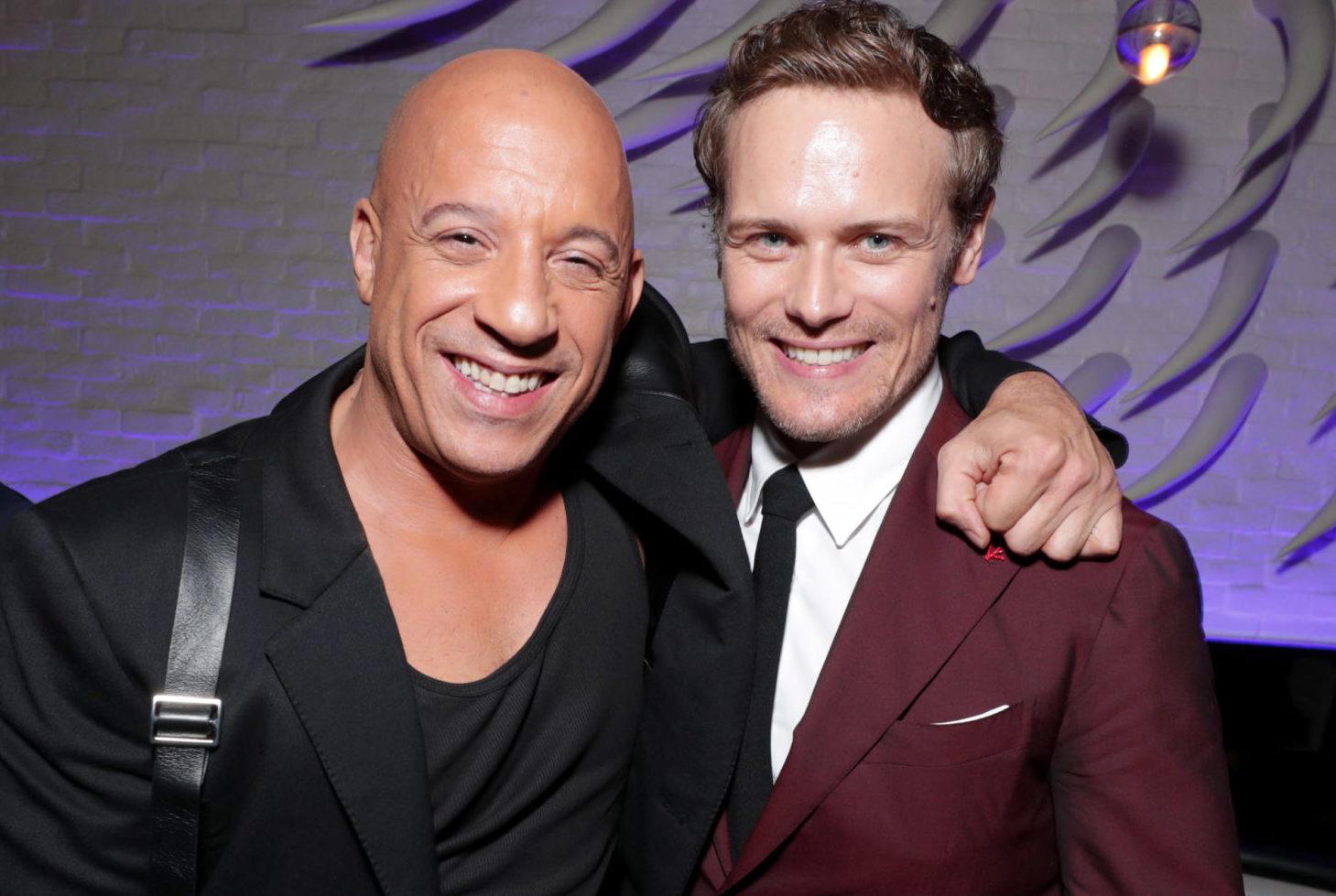 Vin Diesel and Bloodshot co-star Sam Heughan