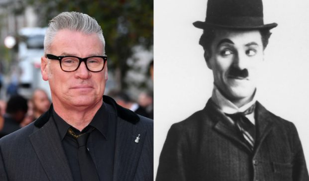 Film critic Mark Kermode and silent movie maestro Charlie Chaplin