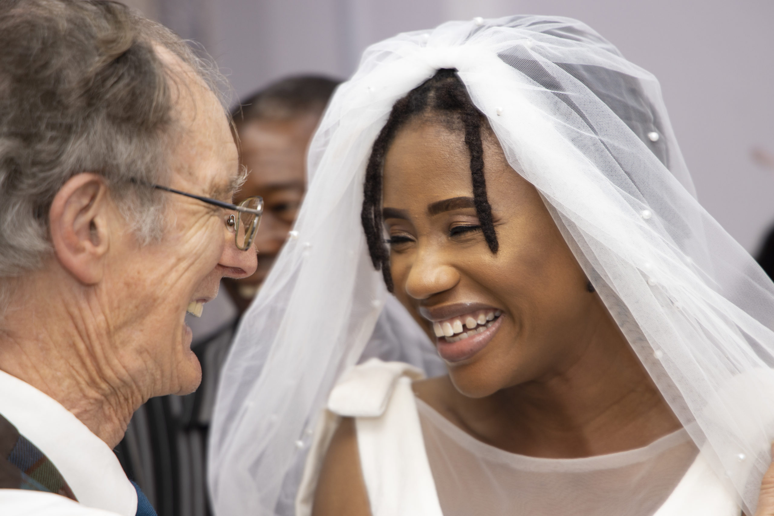 Regina Conteh shares the joy of her wedding day in Sierra Leone last month with Keith Thomson, the doctor who saved her life