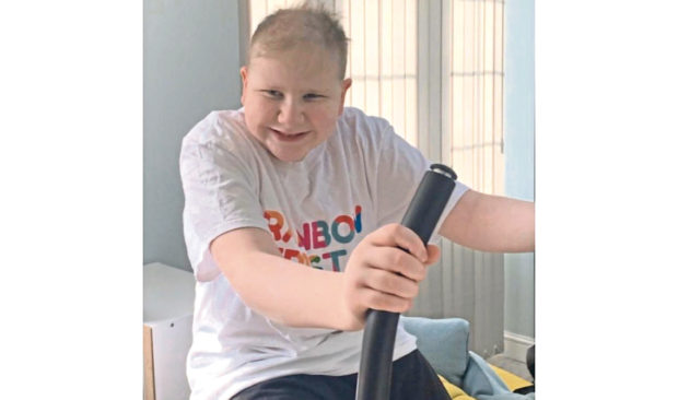 Adam Finch is cycling 200 virtual miles to raise money for the Rainbow Trust Children's Charity