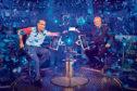 Matthew Macfadyen as Charles Ingram  and Michael Sheen as Chris Tarrant in Quiz