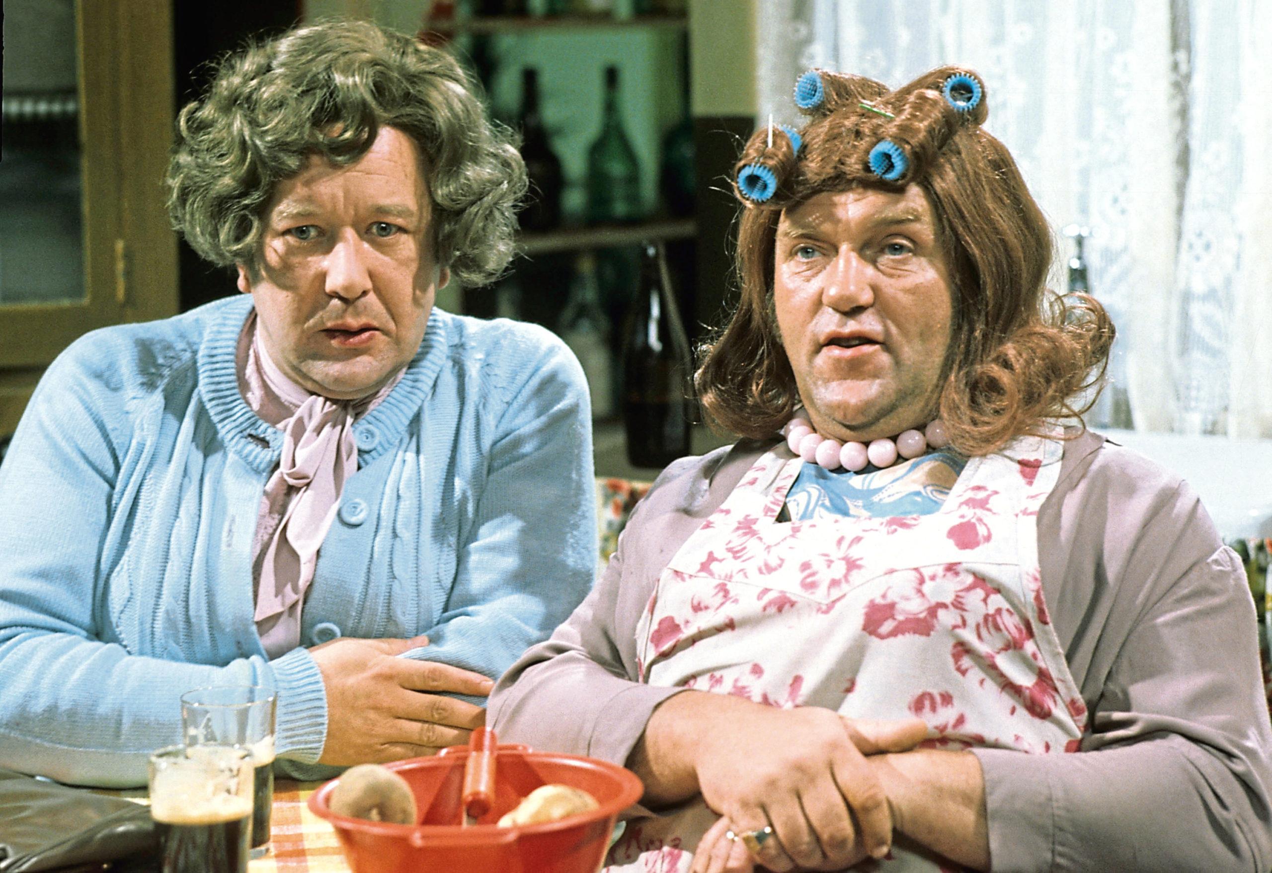 Roy Barraclough (Cissie) and Les Dawson (Ada) in The Les Dawson Show