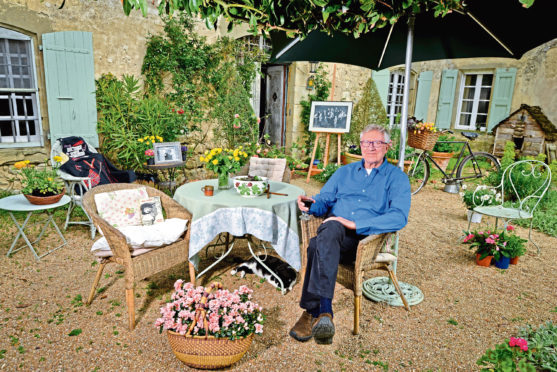 Robin Ellis relaxing in his garden in the South of France