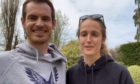 Andy and wife Kim challenged tennis fans to 100 volleys