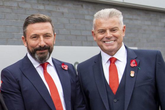 Aberdeen boss Derek McInnes and chairman Dave Cormack