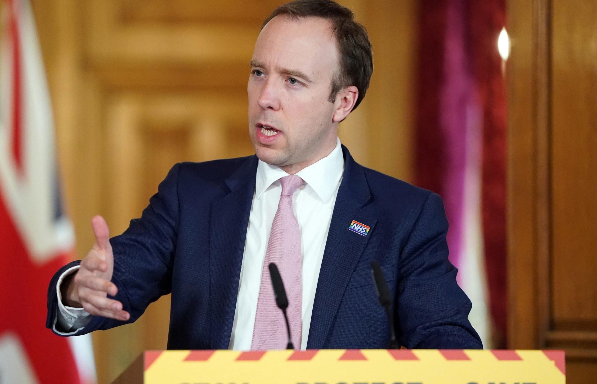 """The Health Secretary Matt Hancock called on footballers """"to do more and play their part"""""""