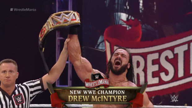 Drew McIntyre beat Brock Lesnar to become WWE Champion