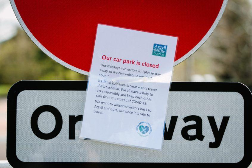 Closed car park in Luss village