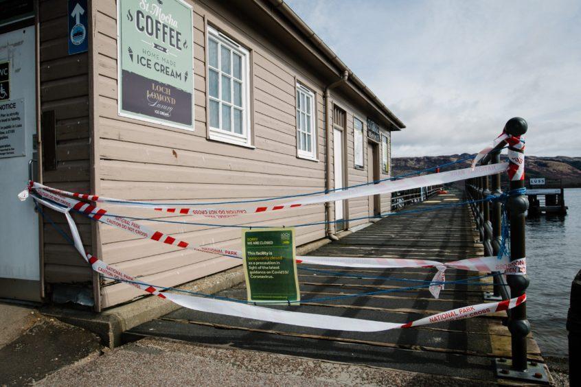 Closed pier in Luss, on Loch Lomond