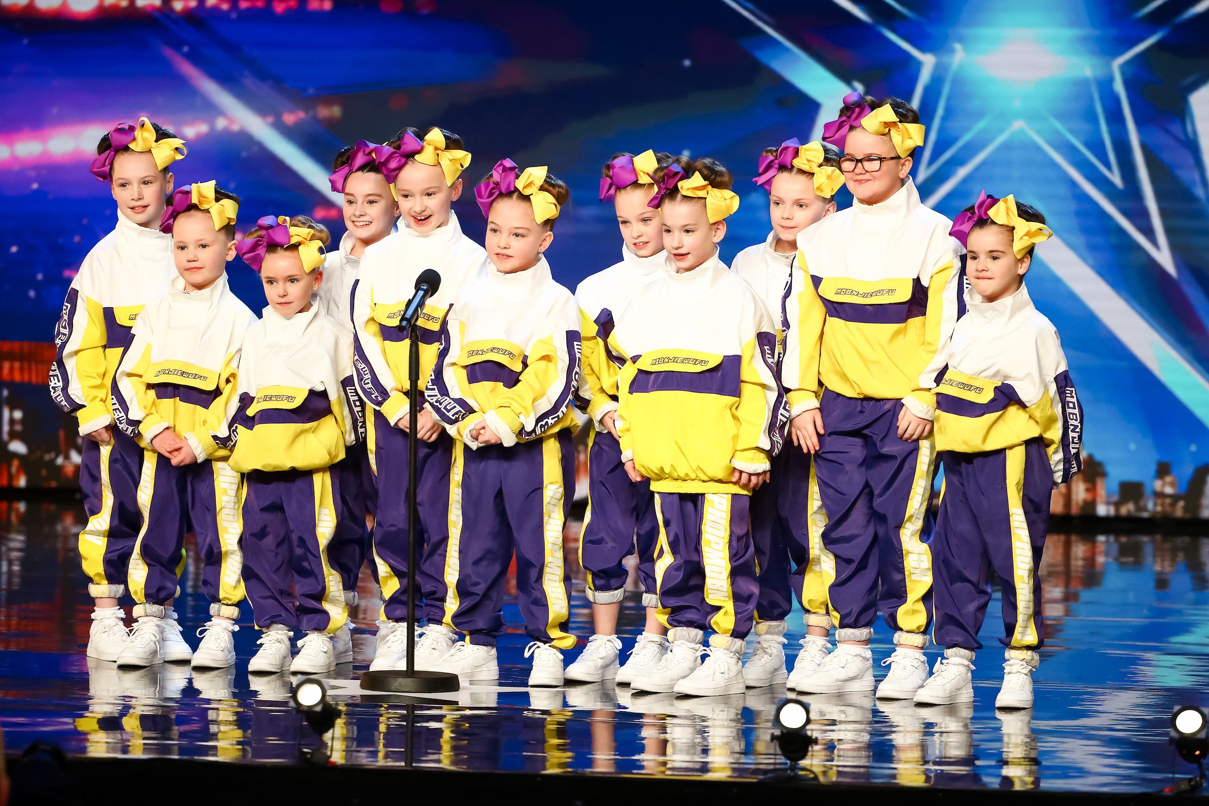 Dance group Nu Crew delight the judging panel on last night's pre-recorded, opening episode of the new BGT series