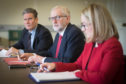 Jeremy Corbyn flanked by Keir Starmer and Rebecca Long-Bailey