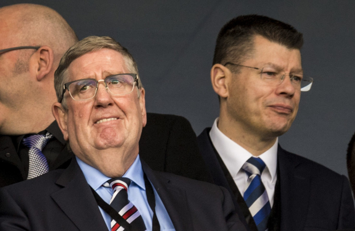 Rangers chairman Douglas Park and SPFL chief executive Neil Doncaster
