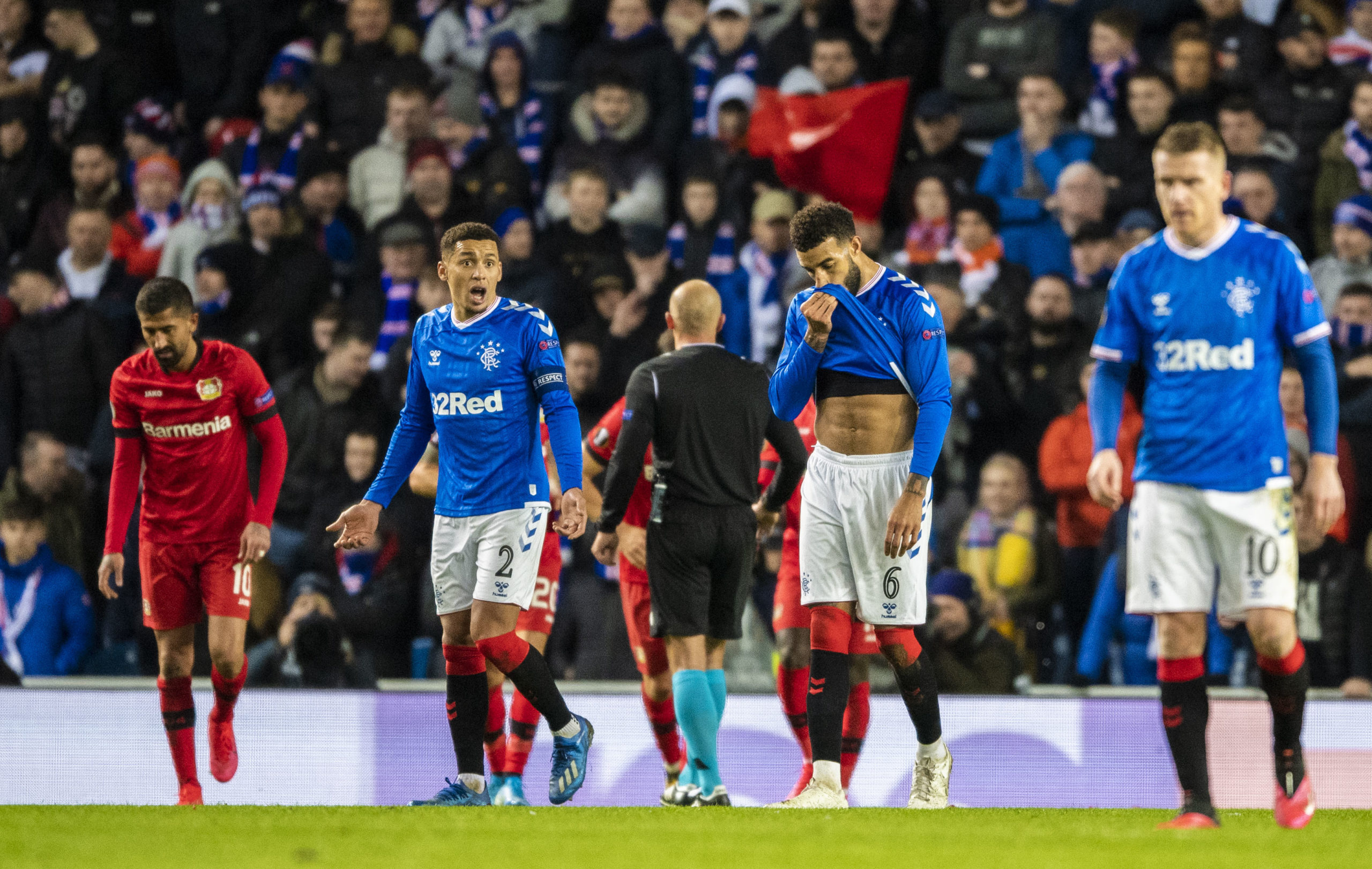 Rangers' Europa League match against Bayer Leverkusen was the last football match played in Scotland