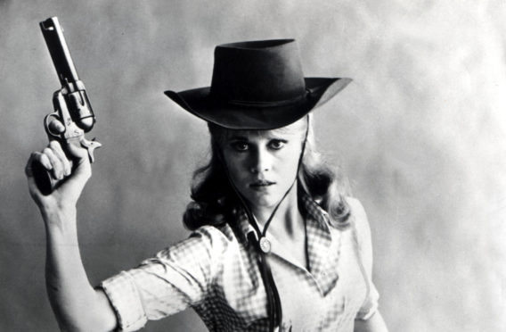Legendary Jane Fonda in comedy western Cat Ballou, 1965