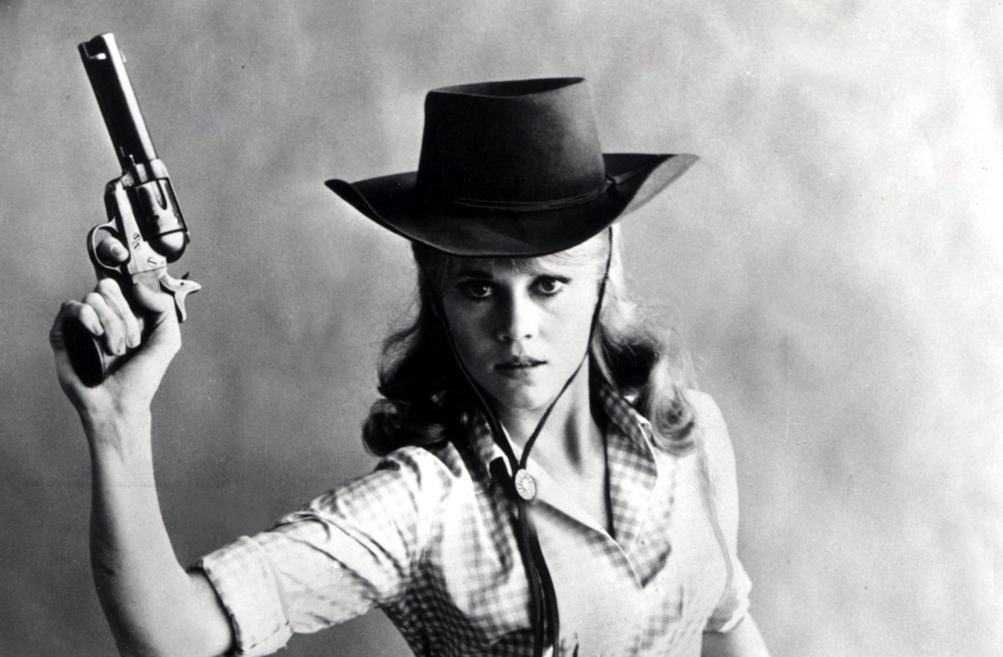 Legendary Jane Fonda in comedy western Cat Ballou, 1965