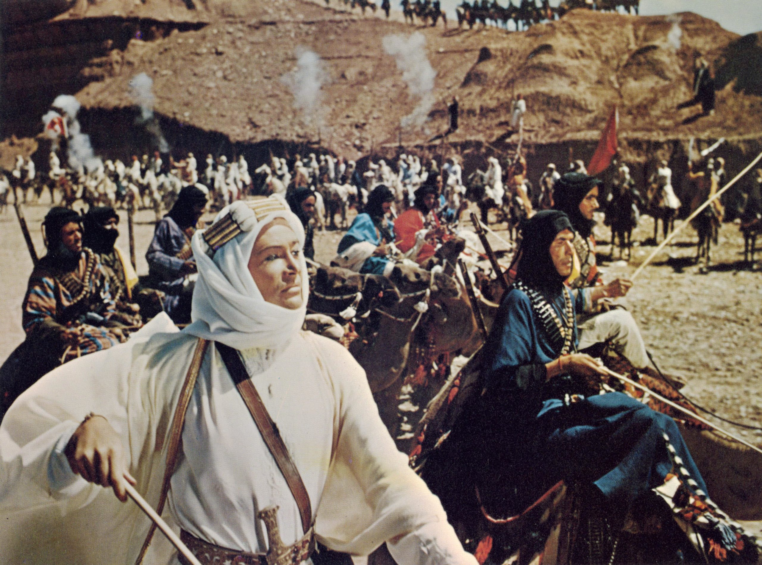 Peter O'Toole as Lawrence Of Arabia in a scene from director David Lean's 1962 epic historical action-adventure flick