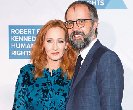 JK Rowling and her husband Dr Neil Murray