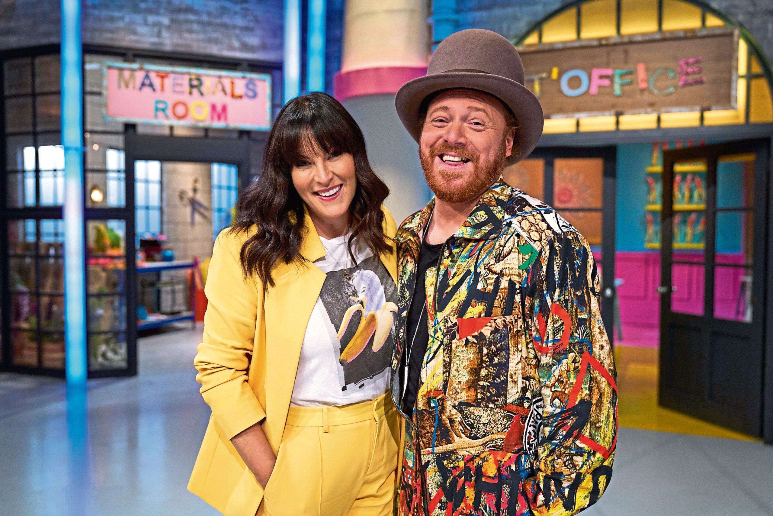 The Fantastical Factory Of Curious Craft hosts Anna Richardson and Keith Lemon
