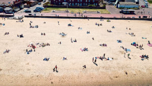 Scots praised for keeping our distance as crowds mob beaches down south