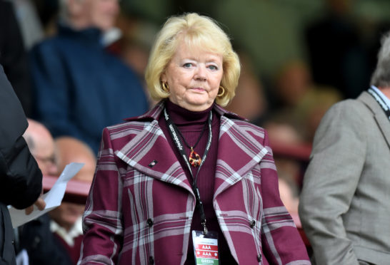 Hearts owner Anne Budge