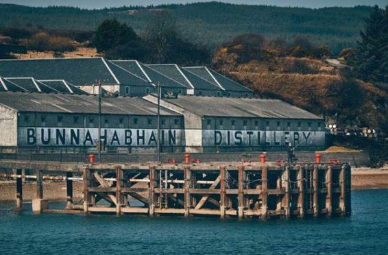 Bunnahabhain distillery on Islay