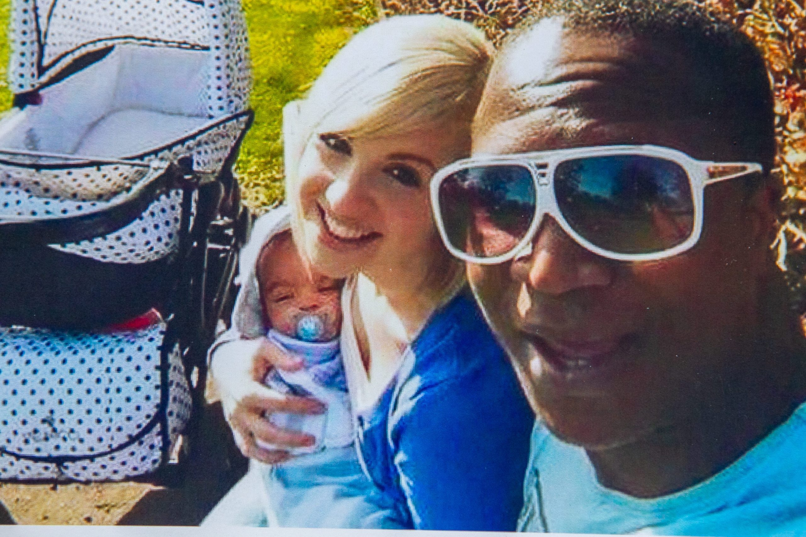 Proud dad Sheku with his partner Colette and their baby Isaac before tragedy struck