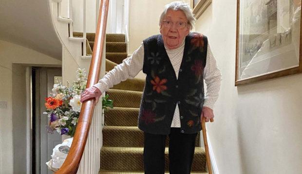 Margaret Payne keeps on climbing at home in Ardvar