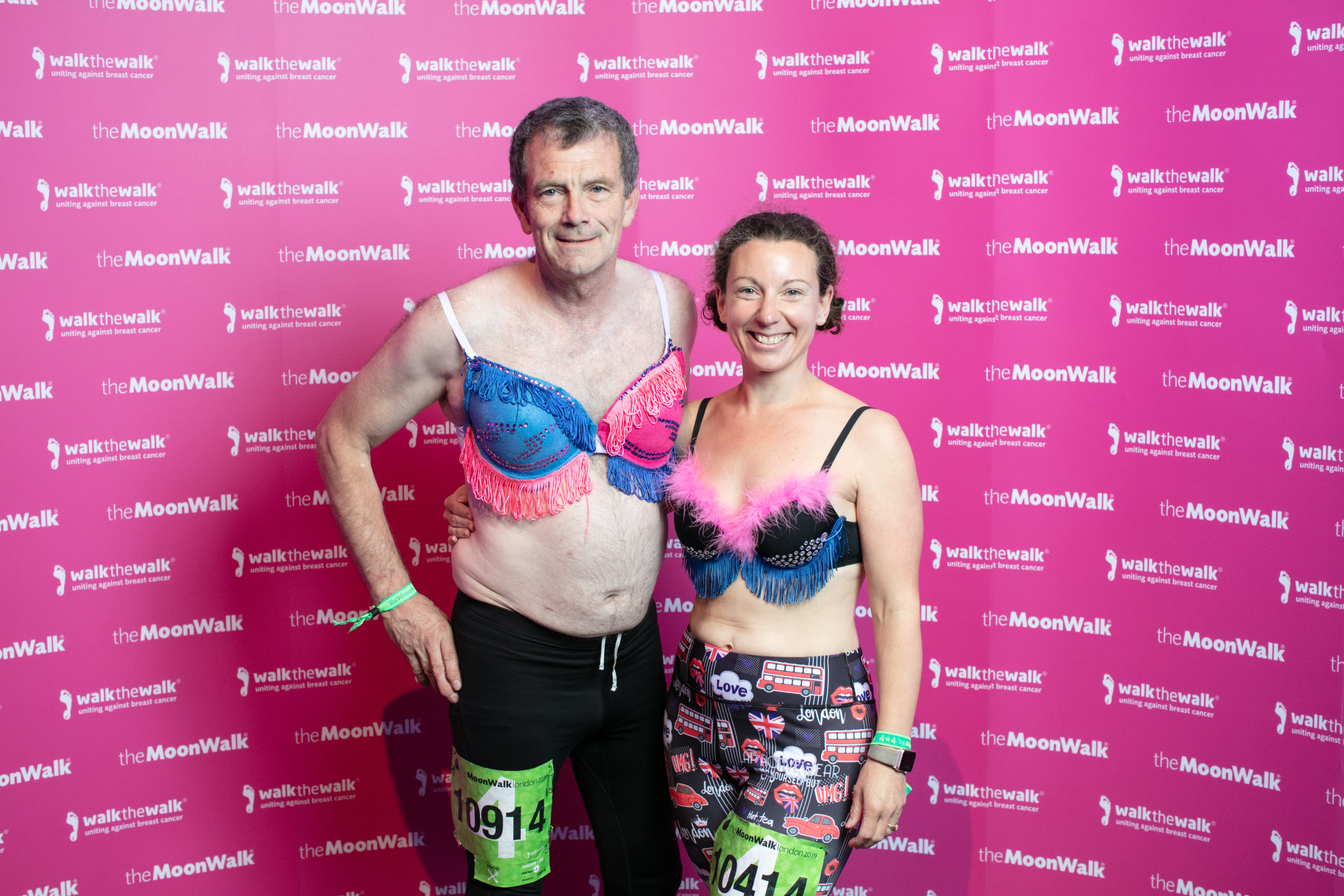 Richard Galloway with Delia Treby, one of his fellow MoonWalk participants
