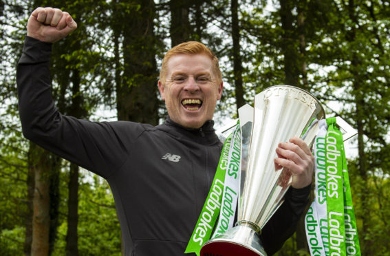 Celtic boss Neil Lennon was delighted to get his hands on the Premiership trophy once again at the start of last week but recognised the challenge put up by Steven Gerrard