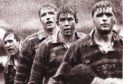 Scotland legend Doddie Weir (second left) in full mud-and thunder mode for Melrose back in 1993