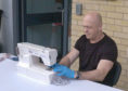 Ross volunteers to help sew PPE at The Fashion Workshop in Ascot, Berkshire