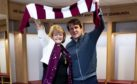 Daniel Stendel with Ann Budge on the German's arrival at Tynecastle
