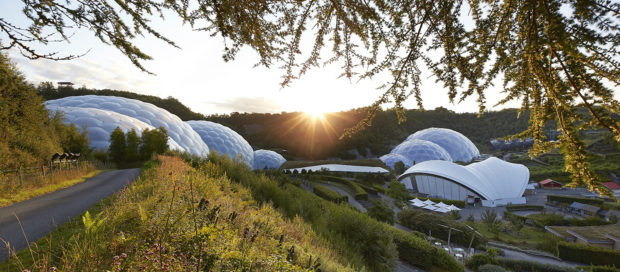 The Eden Project campus near St Austell, Cornwall.