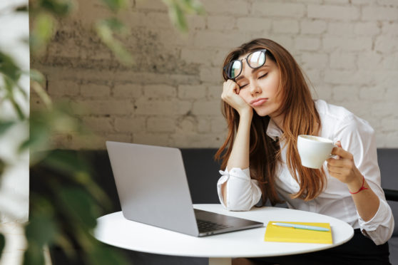 Experts recommend taking a nap after lunch to maintain energy levels rather than relying                               on coffee to get through the day
