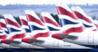 Grounded British Airways planes at Gatwick Airport