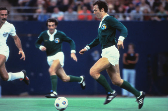Franz Beckenbauer played in the first NASL game Alan Brazil watched